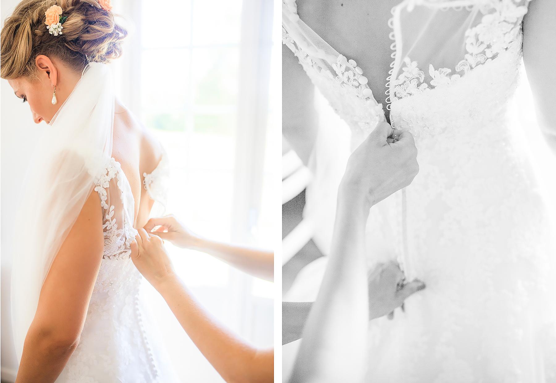 Josefin och Jimmy gifte sig den 5 augusti 2017 i Norrstrands kyrka. Fotograferades av bröllopsfotografen Sofia Röjder / Lyckliga Stunder